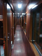 Royal train's corridor