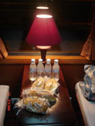 Royal train's snack and water
